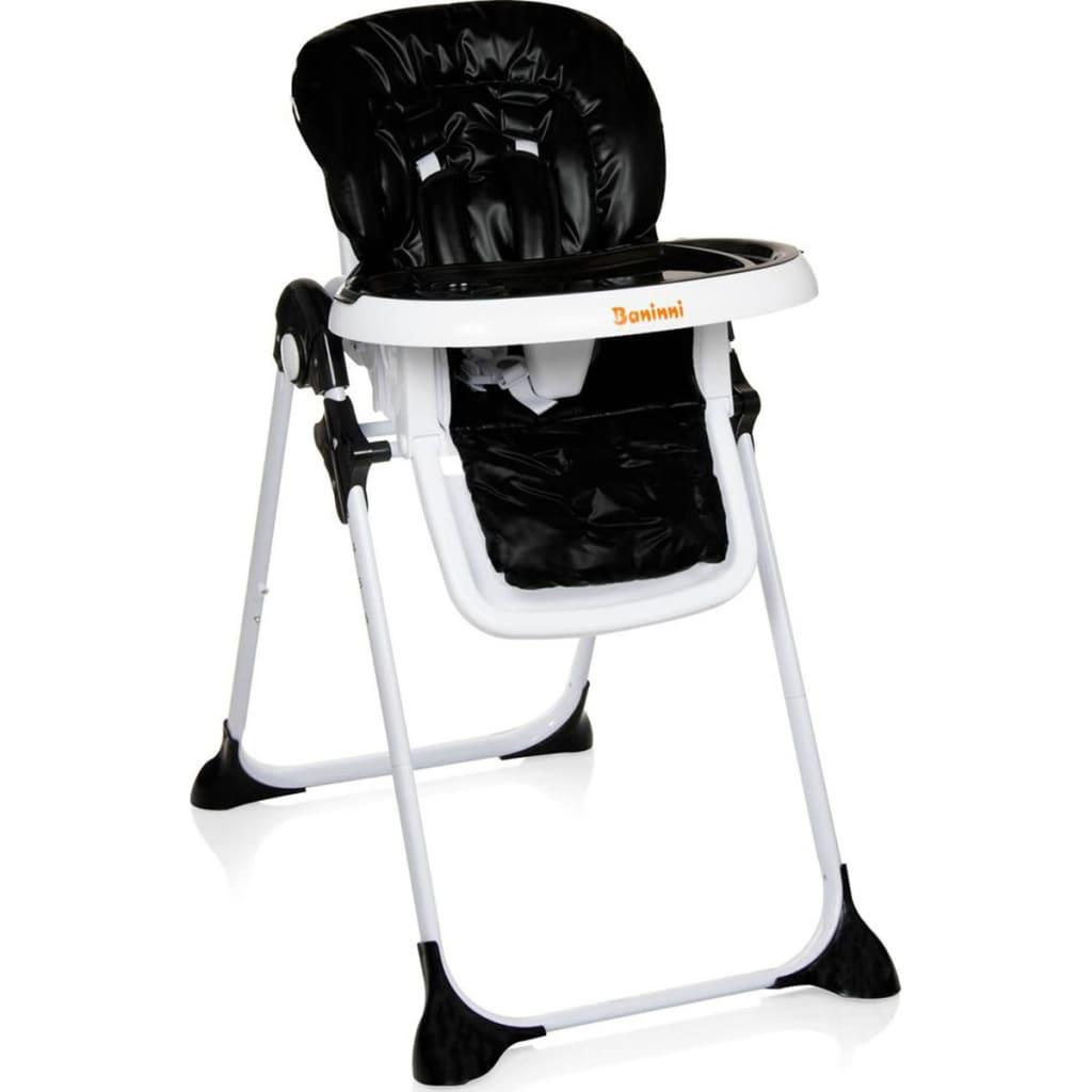 acheter baninni chaise haute pliable olivo noir bndt007 bk pas cher. Black Bedroom Furniture Sets. Home Design Ideas