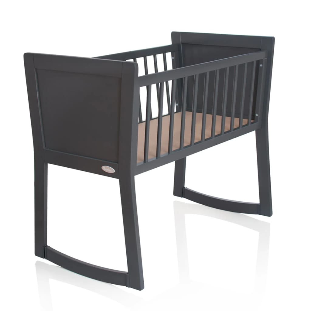 baninni berceau nocchio 40 x 90 cm gris fonc. Black Bedroom Furniture Sets. Home Design Ideas