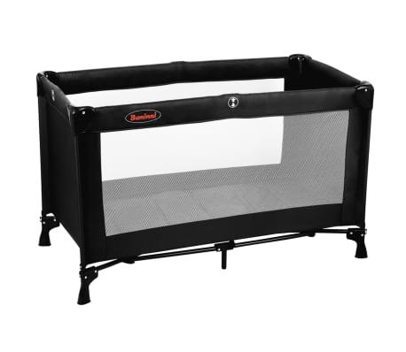 baninni reisebett nido schwarz 80x66x126 cm bnbt006 bk zum schn ppchenpreis. Black Bedroom Furniture Sets. Home Design Ideas