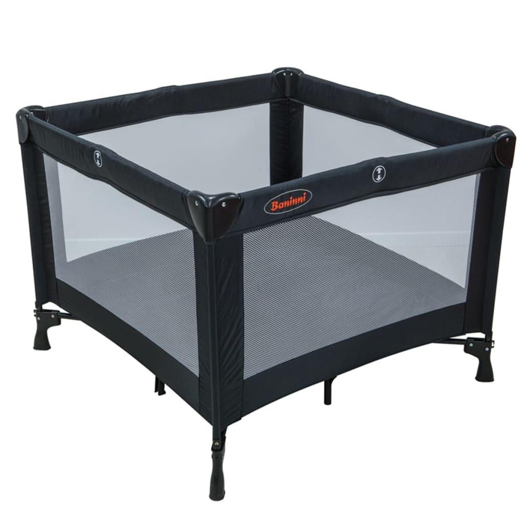 baninni reisebett laufstall nido piazza schwarz bnbt011 bk zum schn ppchenpreis. Black Bedroom Furniture Sets. Home Design Ideas