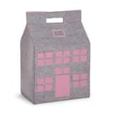 CHILDWOOD Opbergdoos speelgoed grijs en roze 50 x 35 x 72 cm CCFPSP