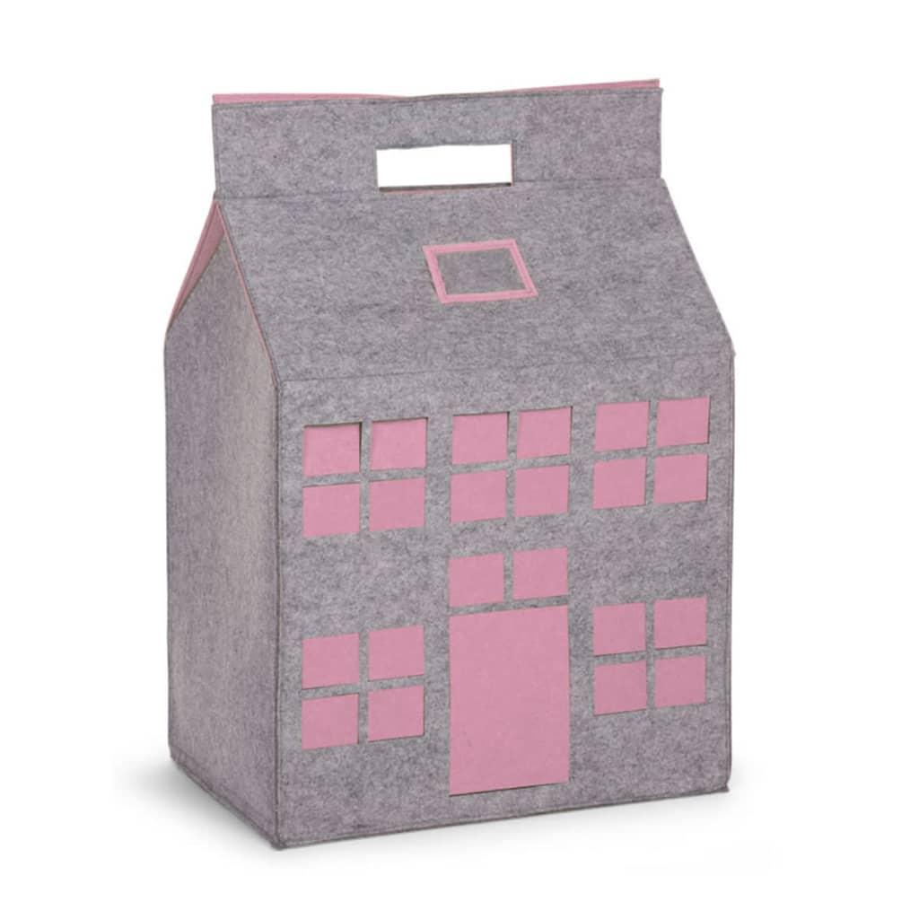 CHILDWOOD Aufbewahrungsbox Spielzeuge Grau und Rosa 50x35x72 cm CCFPSP