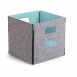 CHILDWOOD Abklappbare Aufbewahrungsbox Wolke Grau und Minzblau CCFSBMB