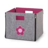 CHILDWOOD Foldable Storage Box Flower Grey and Fuchsia CCFSBFF