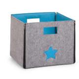 CHILDWOOD Abklappbare Aufbewahrungbox Stern Grau und Türkisblau CCFSBST