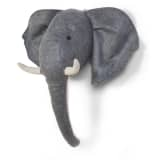 CHILDWOOD Wanddekoration Elefant Filz Grau CCFELH