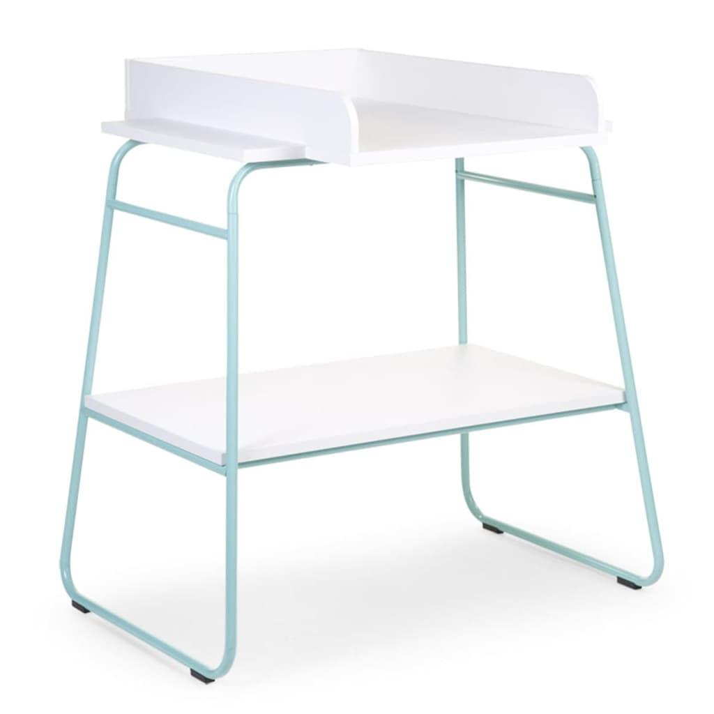 childwood wickeltisch holz minzgr n und wei chtimb. Black Bedroom Furniture Sets. Home Design Ideas