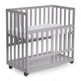 410702 CHILDWOOD Bedside Crib 50x90 cm Beech Grey BSCNSG - Untranslated