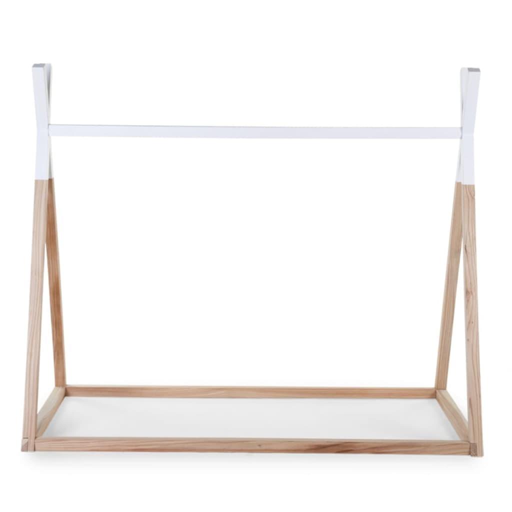 acheter childwood cadre de lit tipi 70x140 cm bois naturel et blanc b140tipi pas cher. Black Bedroom Furniture Sets. Home Design Ideas