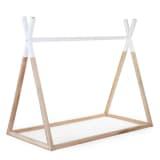 CHILDWOOD Tipi Bed Frame 70x140 cm Wood Natural and White B140TIPI