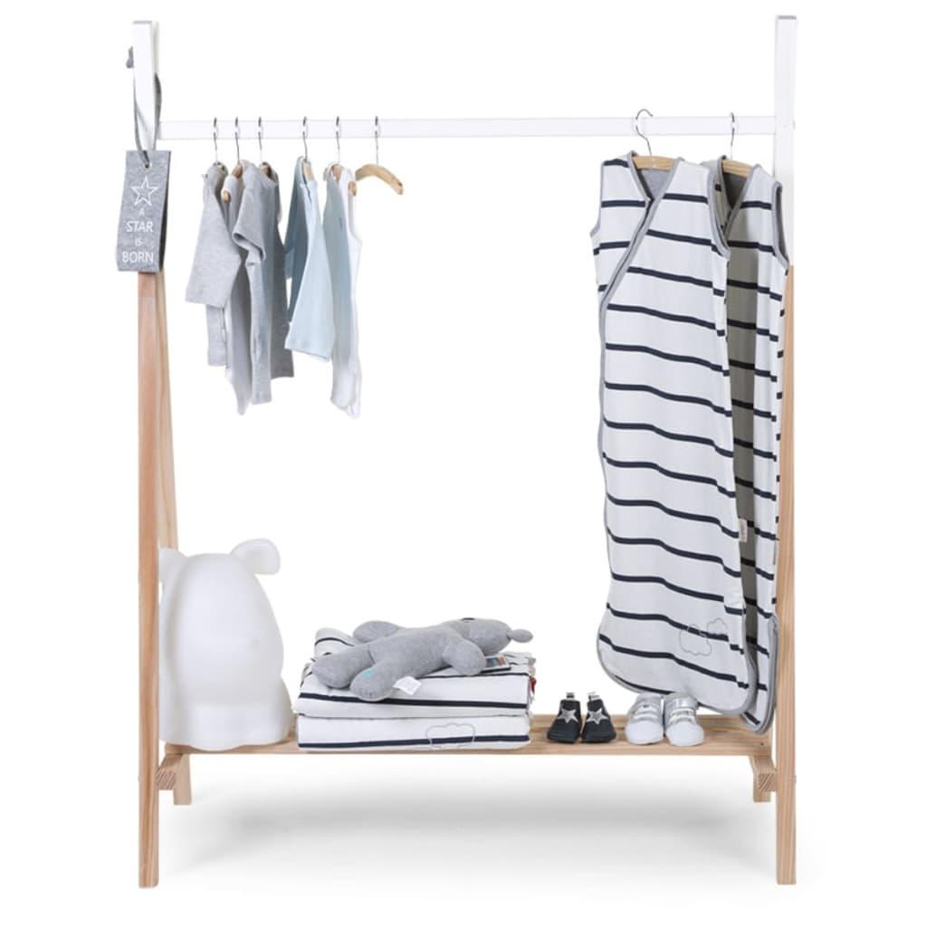Childwood garderobe tipi birke natur und wei clstipi for Garderobe birke