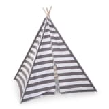 CHILDWOOD Tipi Tent Canvas 135x150x130 cm Grey and White TIPSTR
