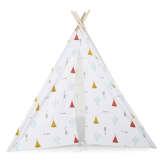 CHILDWOOD Tenda Indiana di Tela 143x135x135 cm Bianca TIPTIPI
