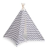 CHILDWOOD Tipi Tent Canvas 143x135x135 cm Grey and White TIPZIG