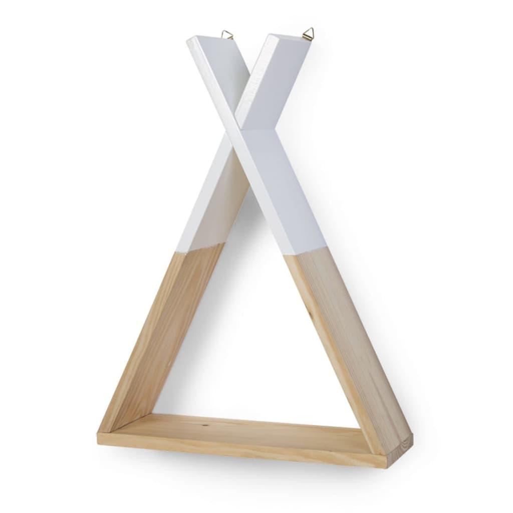 Afbeelding van CHILDWOOD Zwevende plank Tipi essenhout wit WSTIPI