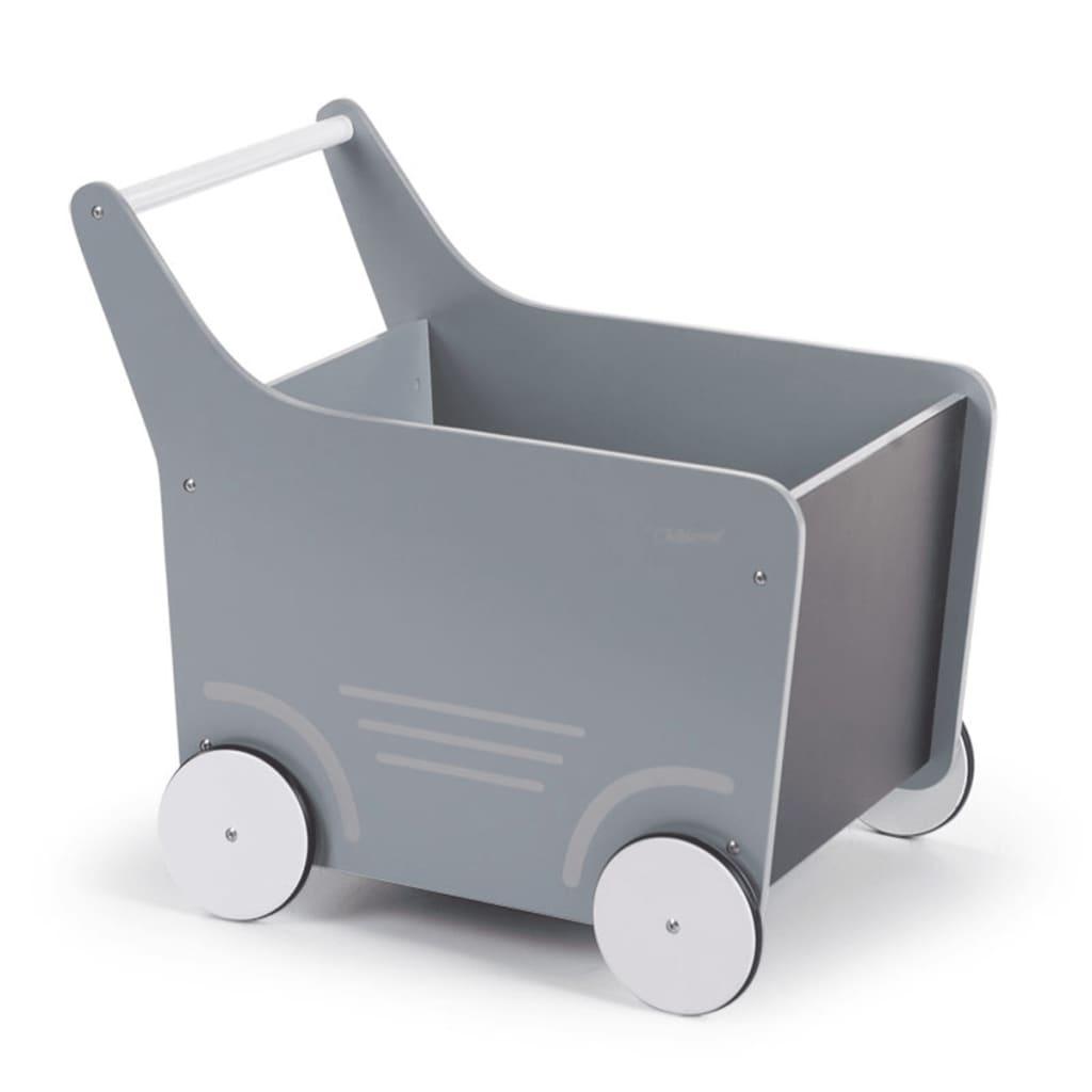 Afbeelding van CHILDWOOD Houten speelgoed wandelwagen grijs WODSTRW