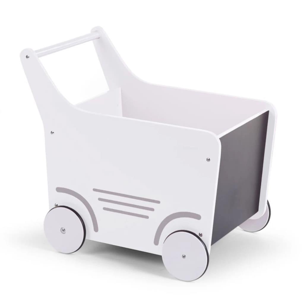 Afbeelding van CHILDWOOD Houten speelgoed wandelwagen wit WODSTRW