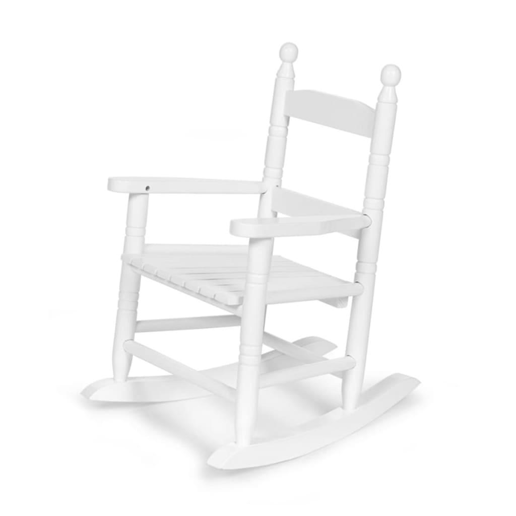 CHILDWOOD Kinder-Schaukelstuhl Weiß RCKW2