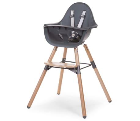 childwood chaise haute b b 2 en 1 evolu 2 anthracite. Black Bedroom Furniture Sets. Home Design Ideas