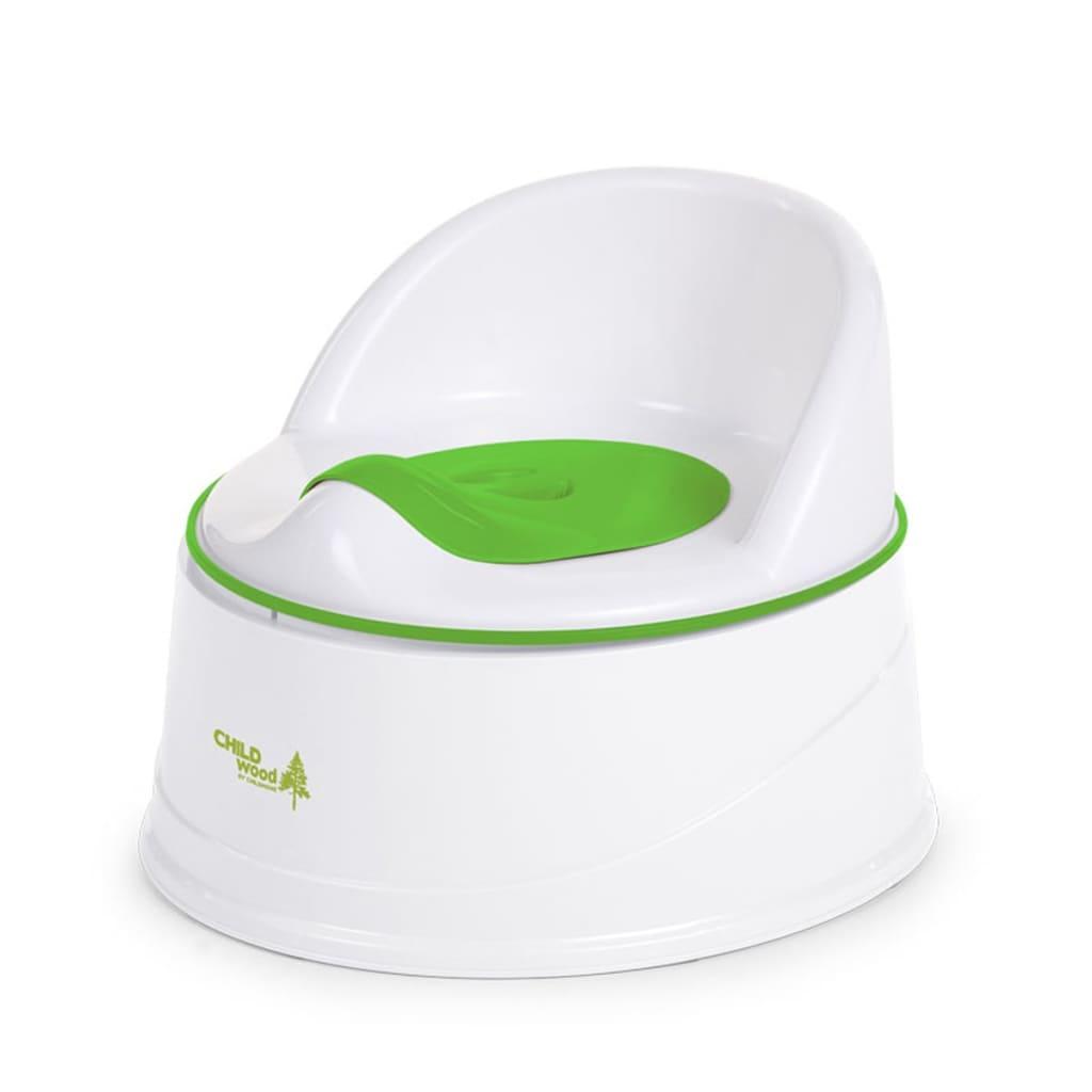 Afbeelding van CHILDWOOD 3-in-1 potje groen en wit CHPSTG