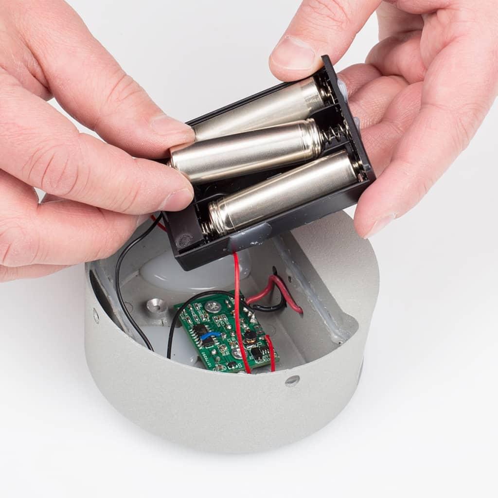 acheter smartwares lampe murale led avec capteur 0 5 w gris gob 001 ms pas cher. Black Bedroom Furniture Sets. Home Design Ideas