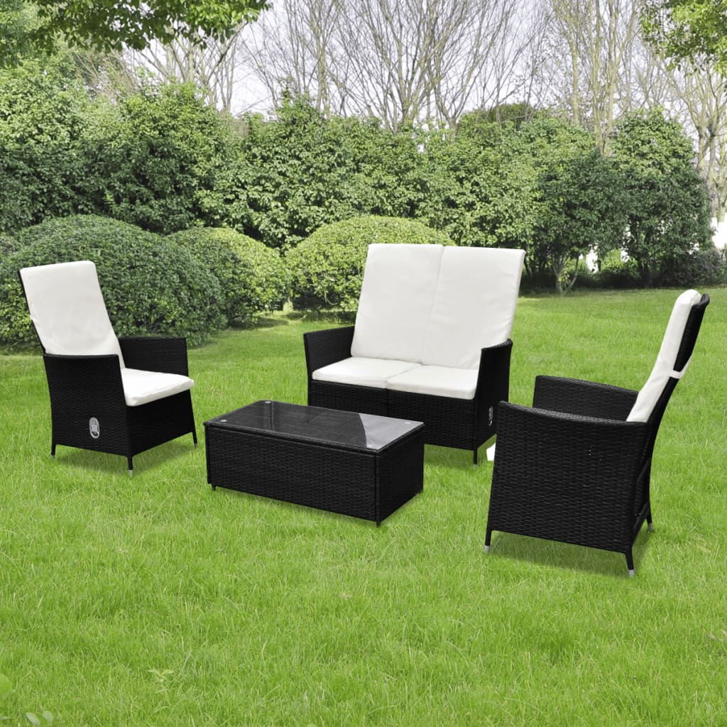 Vidaxl Patio Furniture Reviews Vidaxl 17 Garden Furniture Set Poly Rattan Brown 10pc Outdoor