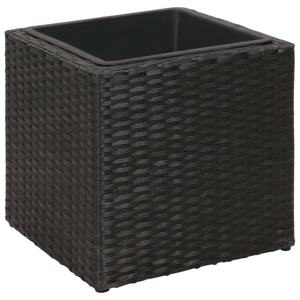vidaxl blumentopf 3 tlg rattan blumenk bel bertopf pflanzenk bel blumenkasten ebay. Black Bedroom Furniture Sets. Home Design Ideas
