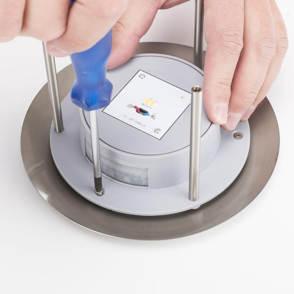 Smartwares luz solar de pared detector de movimiento plata - Detector movimiento luz ...