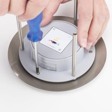 smartwares wandleuchte mit bewegungsmelder silber gws 177 ms zum schn ppchenpreis. Black Bedroom Furniture Sets. Home Design Ideas