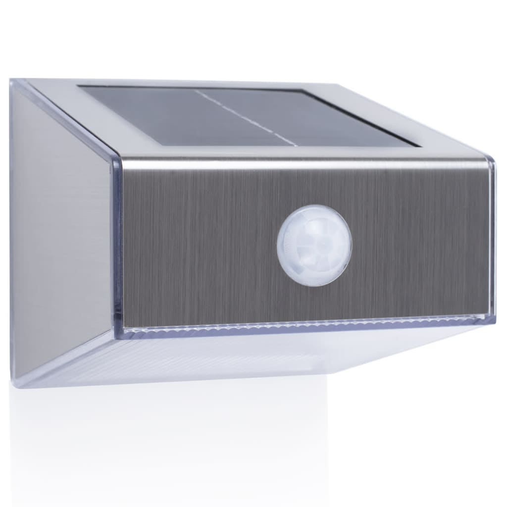 SMARTWARES Solar Wall Light with PIR Sensor Trapezoid Silver 5000.702 vidaXL.co.uk