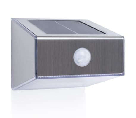 Smartwares solar wandleuchte mit pir sensor trapez silber g nstig kaufen - Wandbeleuchtung solar ...