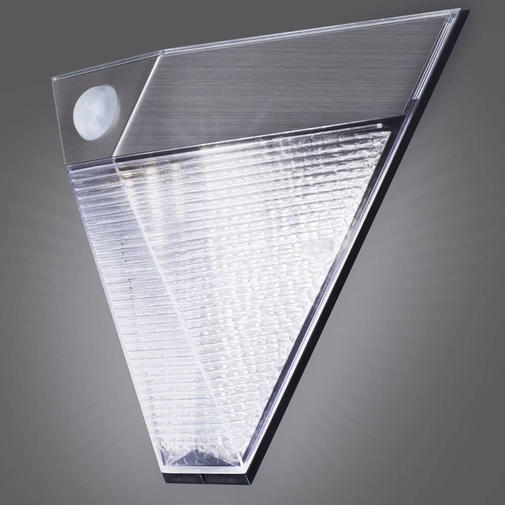 Smartwares solar wandleuchte mit pir sensor pyramide silber g nstig kaufen - Wandbeleuchtung solar ...