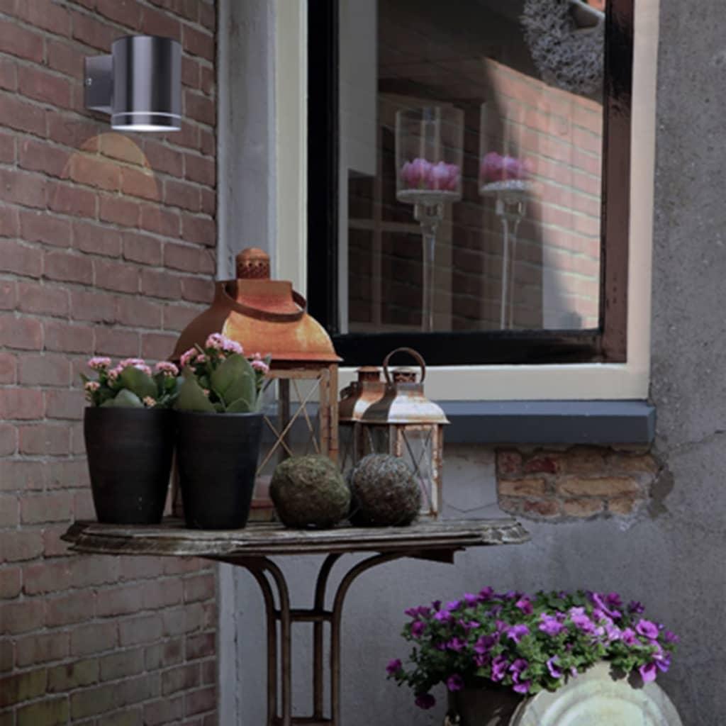 SMARTWARES Solar Wall Light with Sensor 0.5 W Silver GWS-001-DS vidaXL.co.uk
