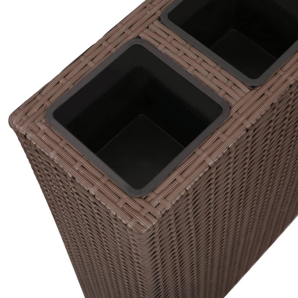 jard n maceta jardinera de rat n rect ngulo set de 1 pieza marr n tienda online. Black Bedroom Furniture Sets. Home Design Ideas
