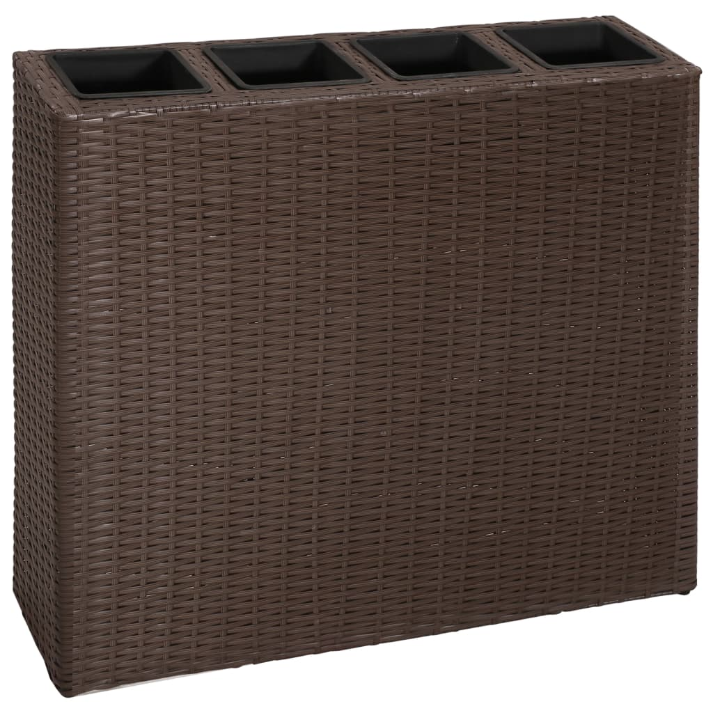 vida-xl-garden-rectangle-rattan-planter-set-brown