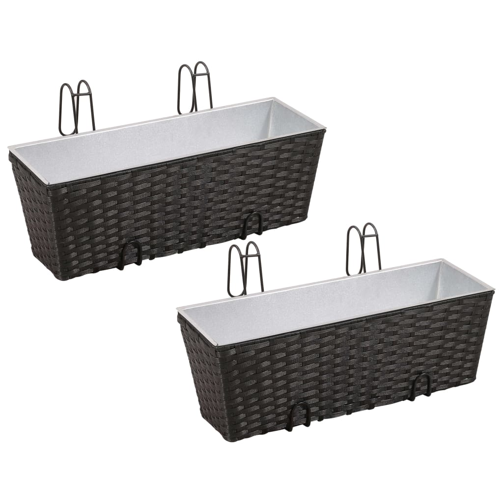 vidaxl-balcony-trapezoid-rattan-planter-set-50-cm-2-pcs-black