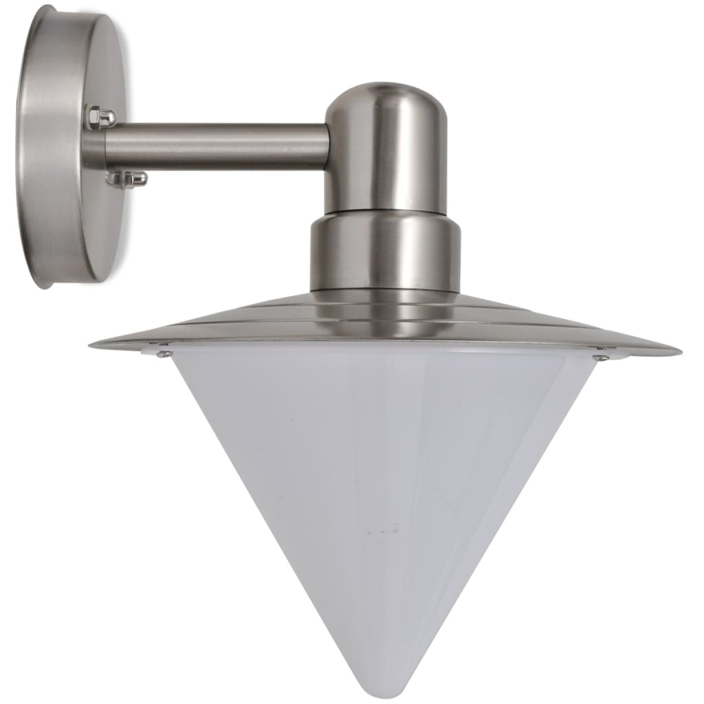 Wall lamp stainless steel cone shape vidaxl ie