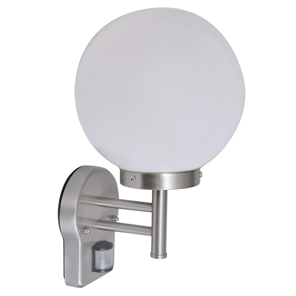 vida-xl-wall-lamp-stainless-steel-ball-shape-with-sensor
