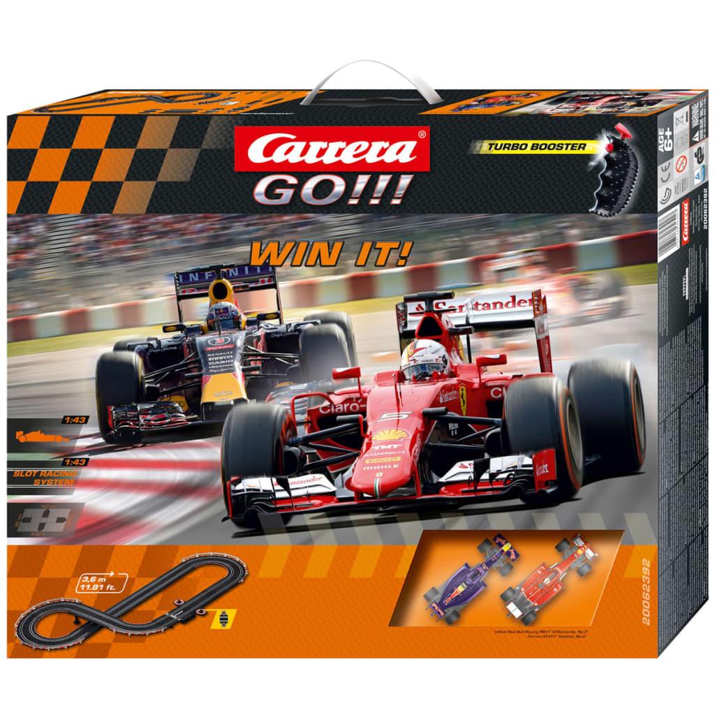 Carrera Set di Macchinine da Corsa Go Win It Rosso e Blu 62392 ...