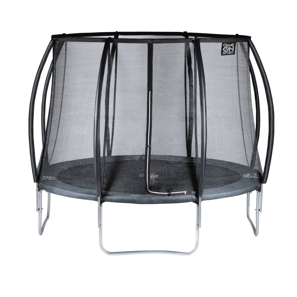 game on sport trampolin mit sicherheitsnetz black line 244. Black Bedroom Furniture Sets. Home Design Ideas