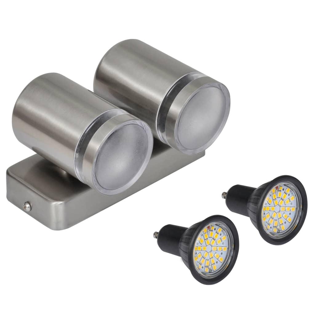 Der edelstahl wandlampe led unten mit kegelkopf online for Led wandlampe