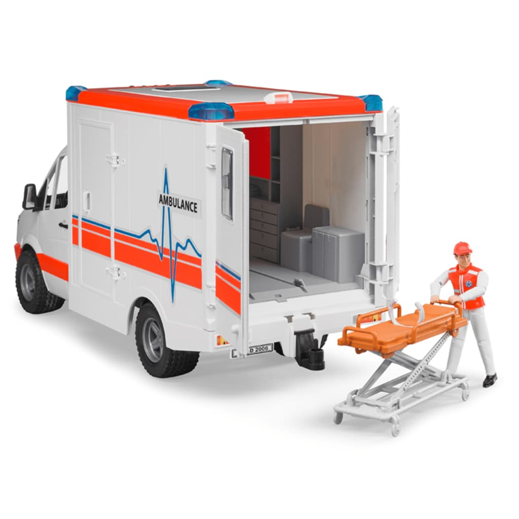 bruder ambulance with driver mercedes benz sprinter 1 16. Black Bedroom Furniture Sets. Home Design Ideas