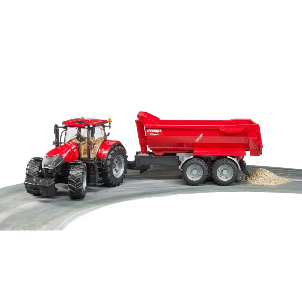 acheter bruder tracteur avec remorque case ih optum 300 cvx 1 16 pas cher