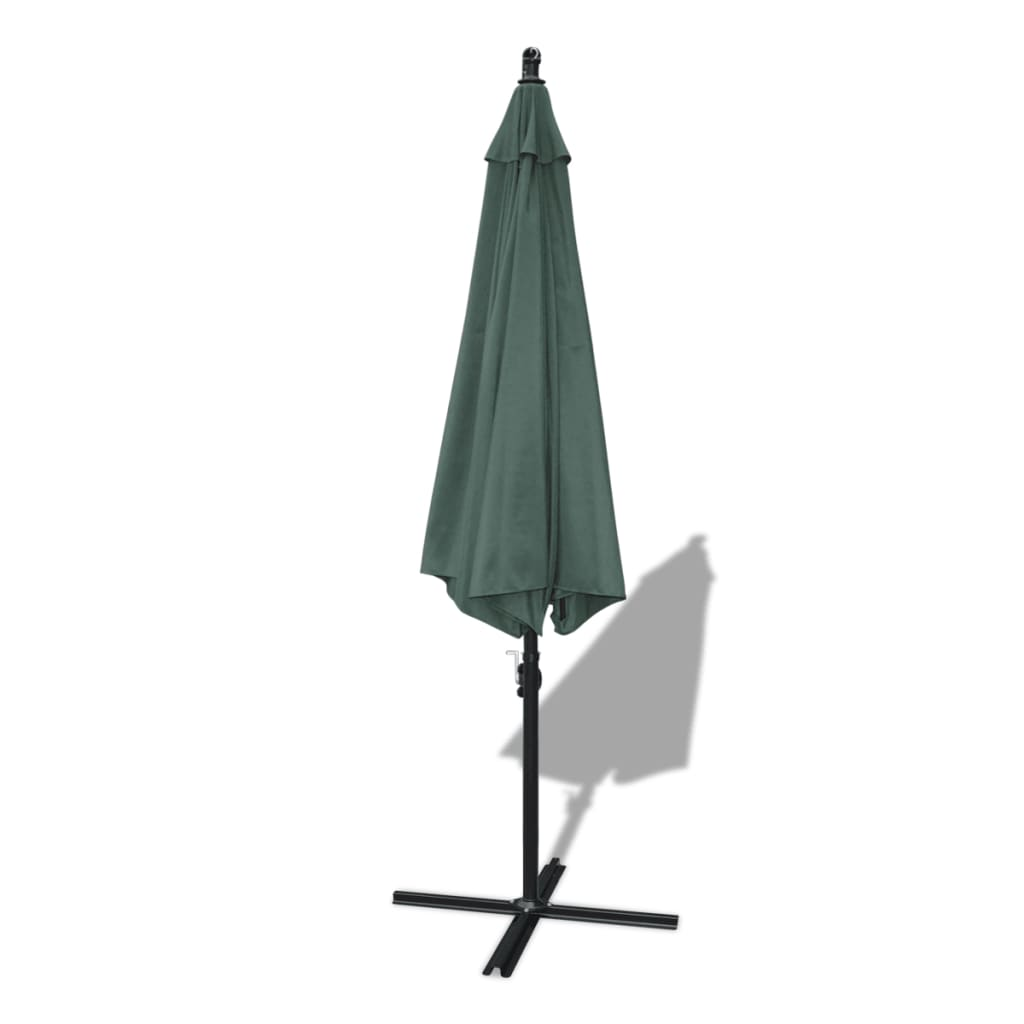 outdoor large hanging parasol 11 39 6 green aluminum pole. Black Bedroom Furniture Sets. Home Design Ideas