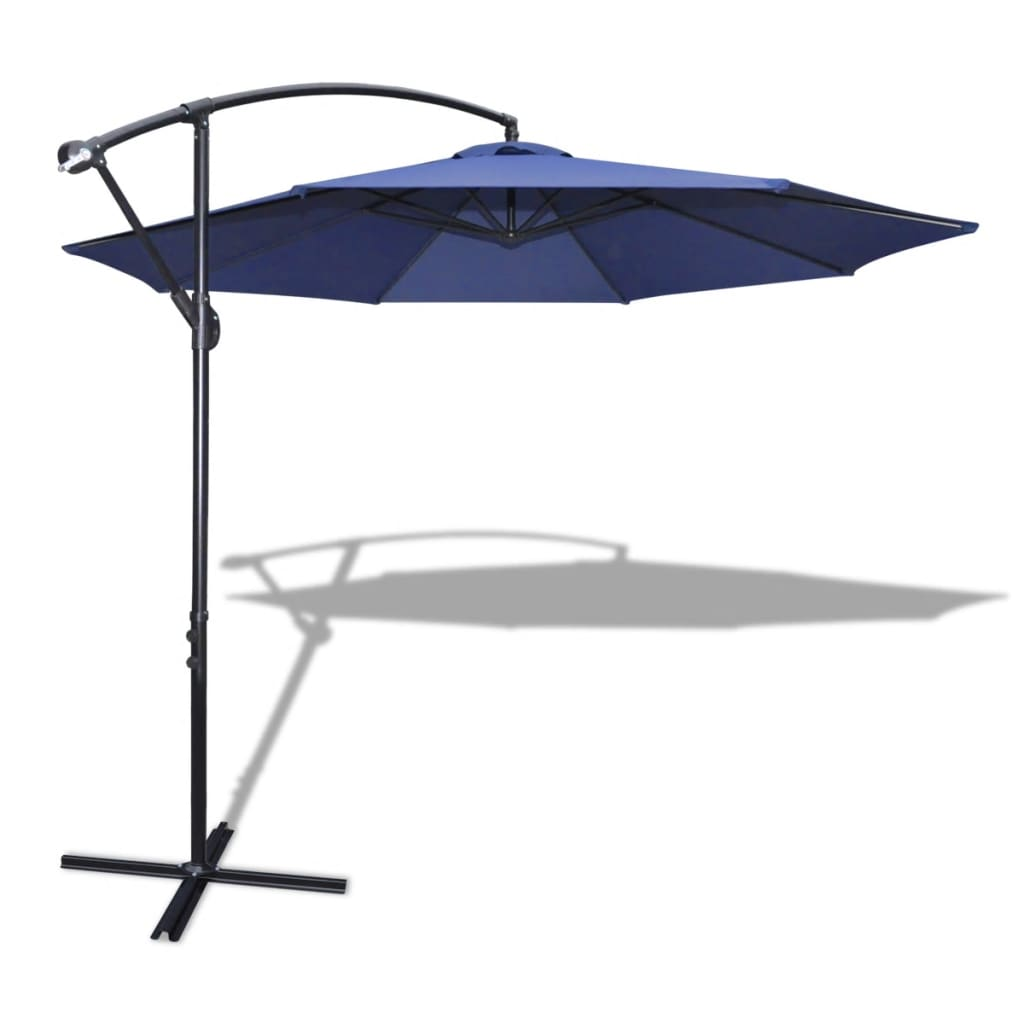 acheter parasol 3 5 m bleu avec poteau en aluminium pas cher. Black Bedroom Furniture Sets. Home Design Ideas