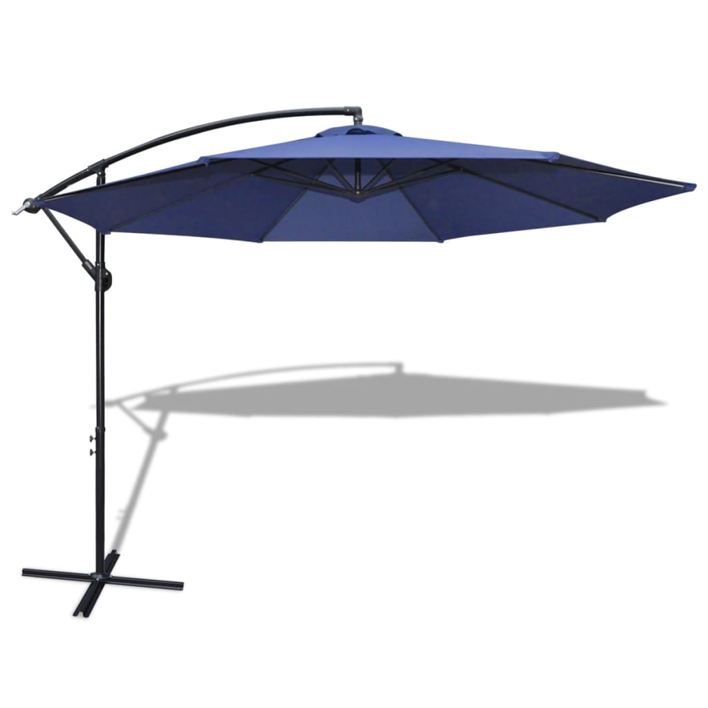 la boutique en ligne parasol 3 5 m bleu avec poteau en. Black Bedroom Furniture Sets. Home Design Ideas