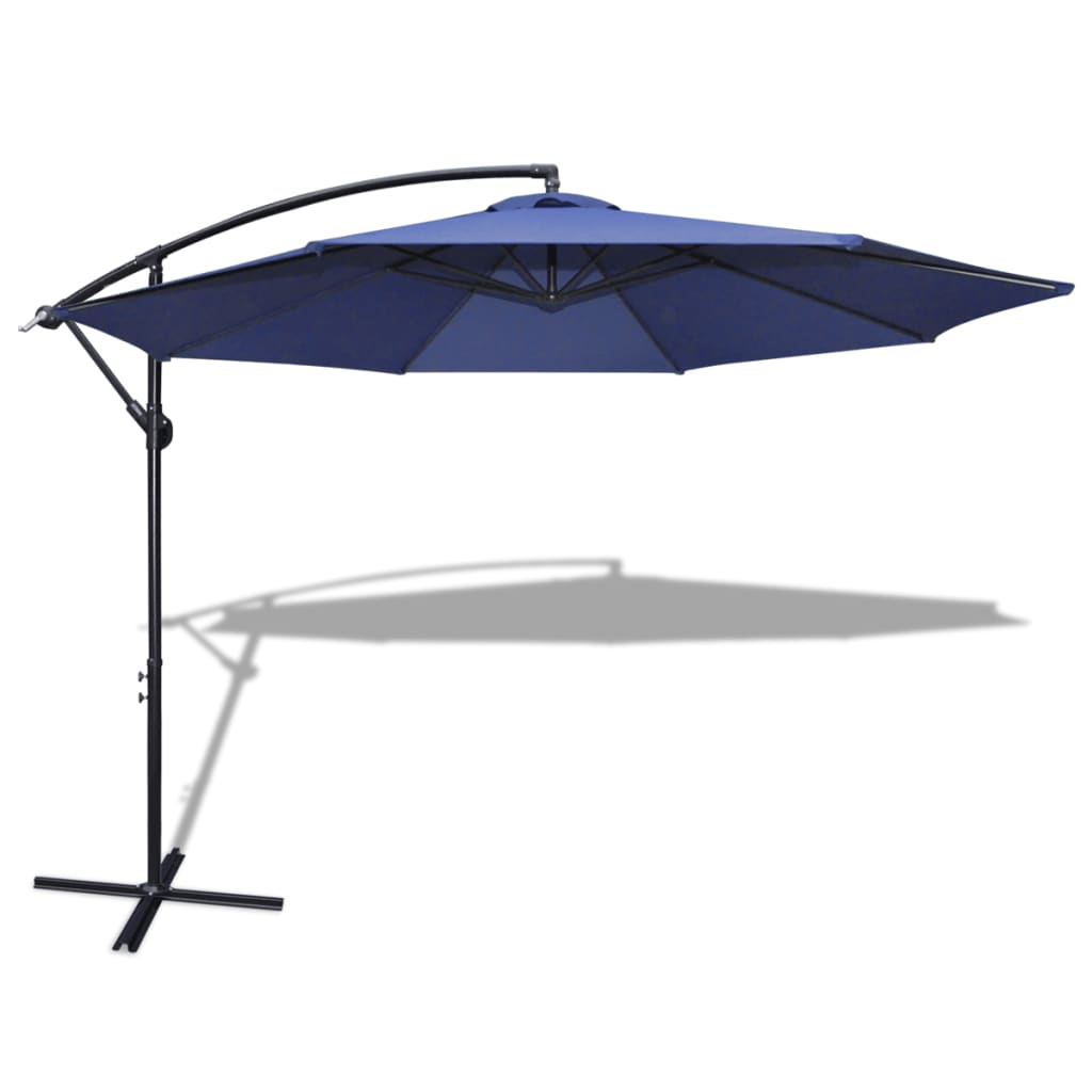 la boutique en ligne parasol 3 5 m bleu avec poteau en aluminium. Black Bedroom Furniture Sets. Home Design Ideas