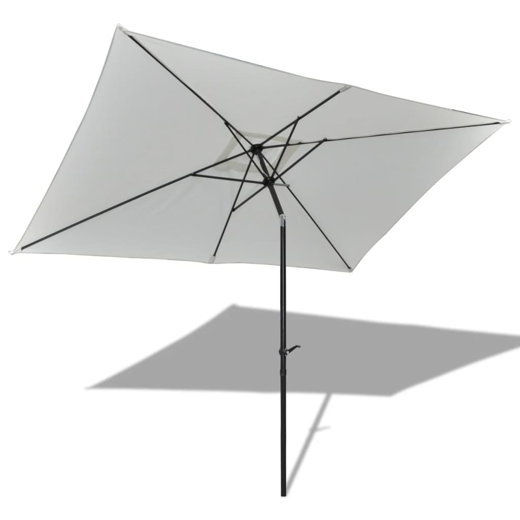 la boutique en ligne parasol de jardin rectangulaire 3 x 2 m blanc. Black Bedroom Furniture Sets. Home Design Ideas