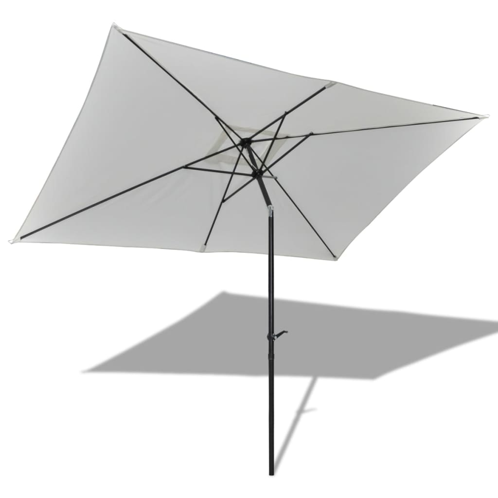 acheter parasol de jardin rectangulaire 3 x 2 m blanc pas cher. Black Bedroom Furniture Sets. Home Design Ideas