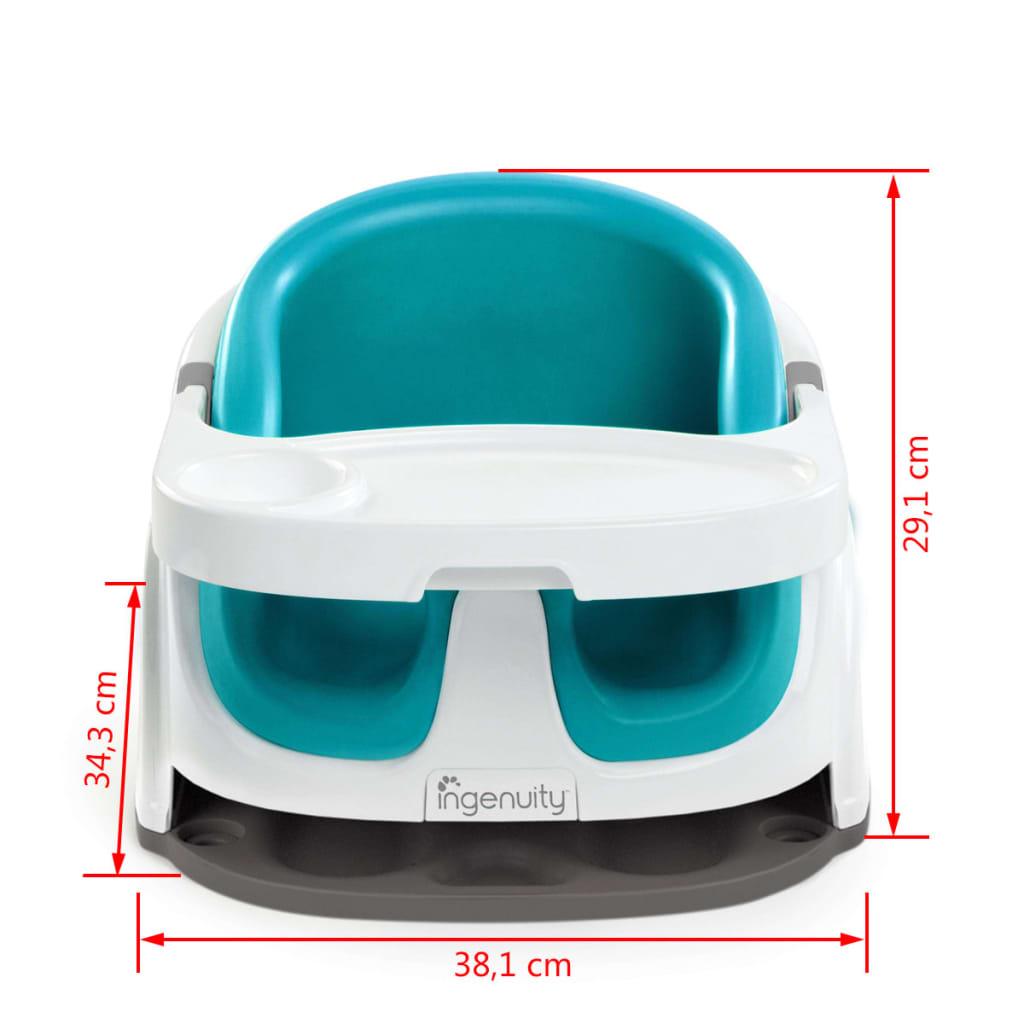 ingenuity baby base 2 in 1 booster seat peacock blue k10865. Black Bedroom Furniture Sets. Home Design Ideas